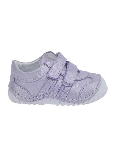 Kiko Kids Kiko Kids Teo 138 %100 Deri Orto pedik Cırtlı Kız Çocuk Ayakkabı Lila